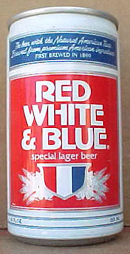 Details about RED WHITE & BLUE SPECIAL LAGER BEER, es CAN, WISCONSIN ...
